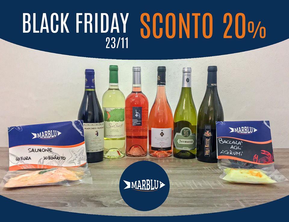 BLACK FRIDAY -20% su prodotti a marchio Marblu e Vini