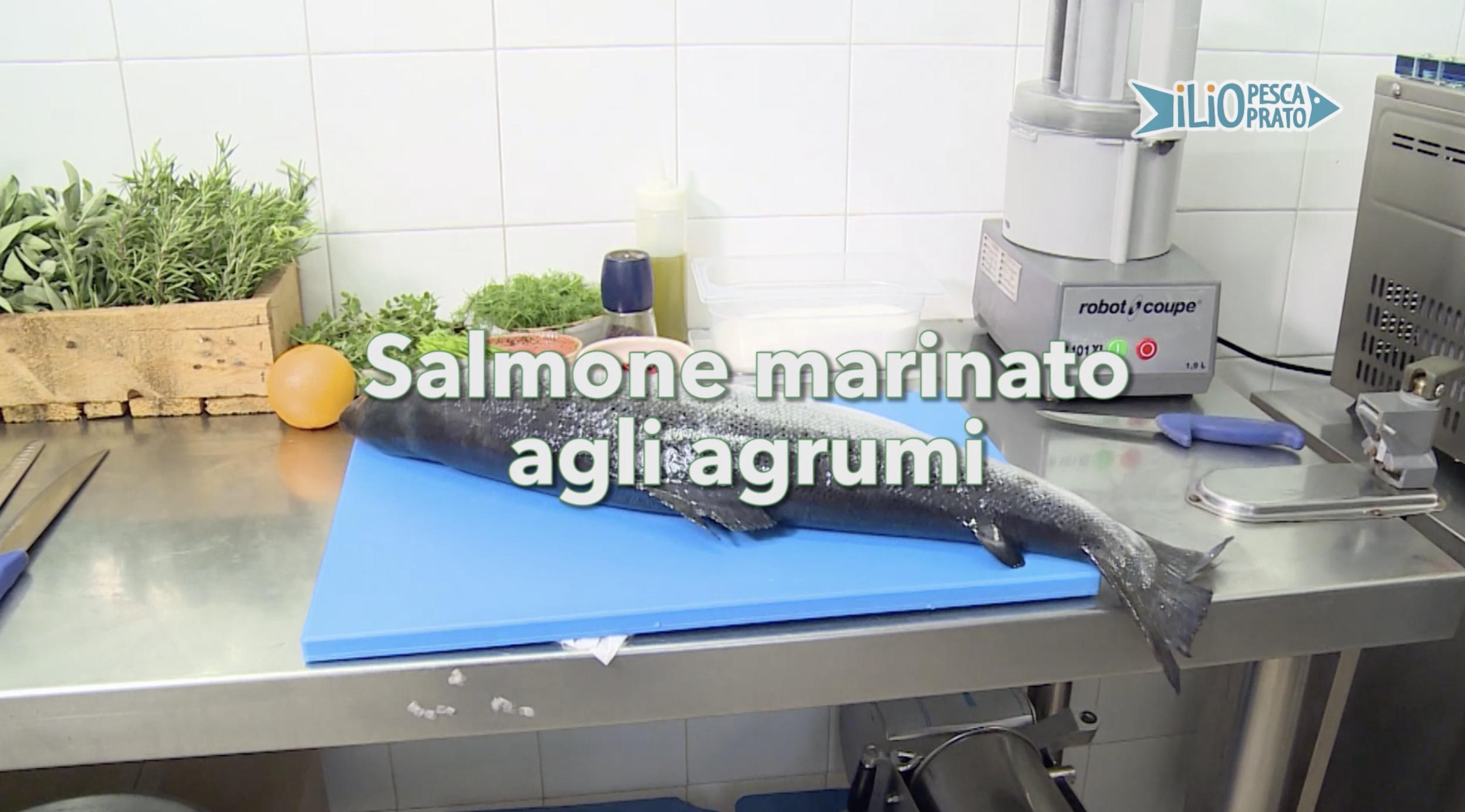 salmone agli agli agrumi