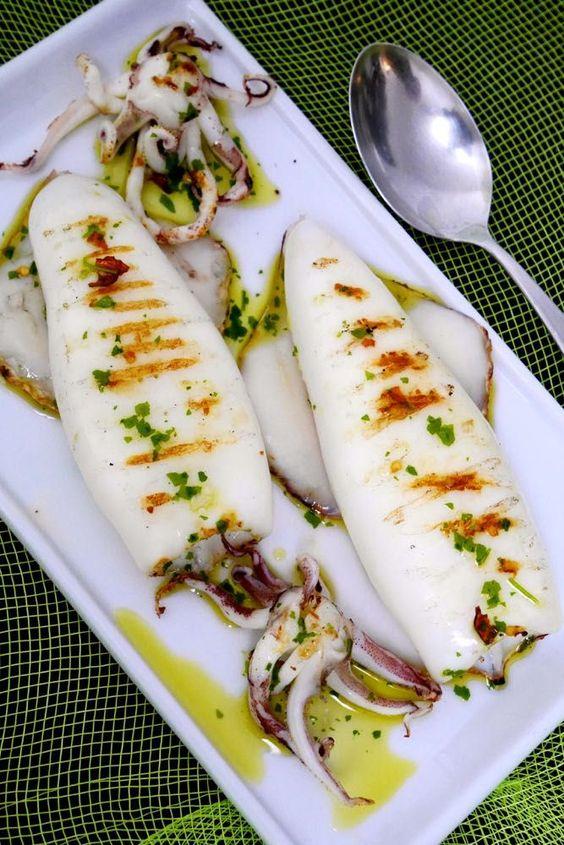 Seppie alla griglia: ricette della pescheria  Marblu