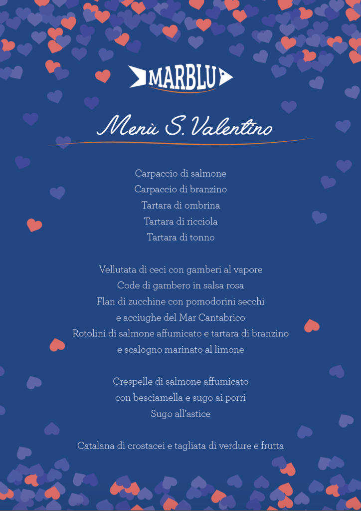 menù S. Valentino pescheria prato