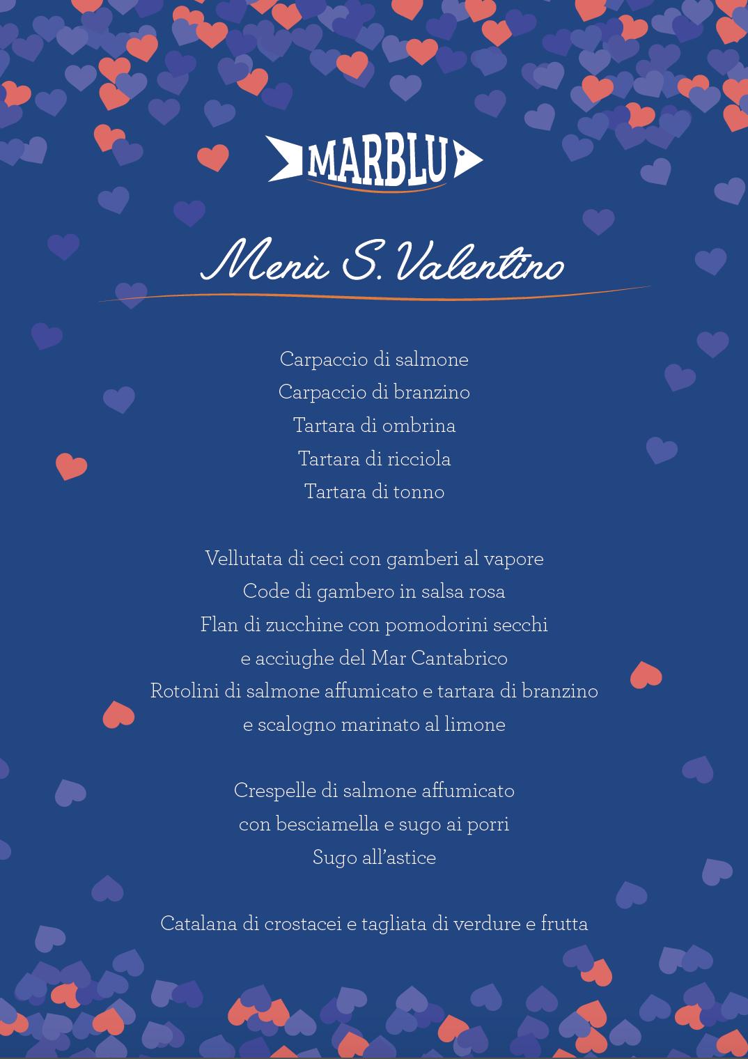 Menù S. Valentino 2019, per innamorarsi delle cose buone!