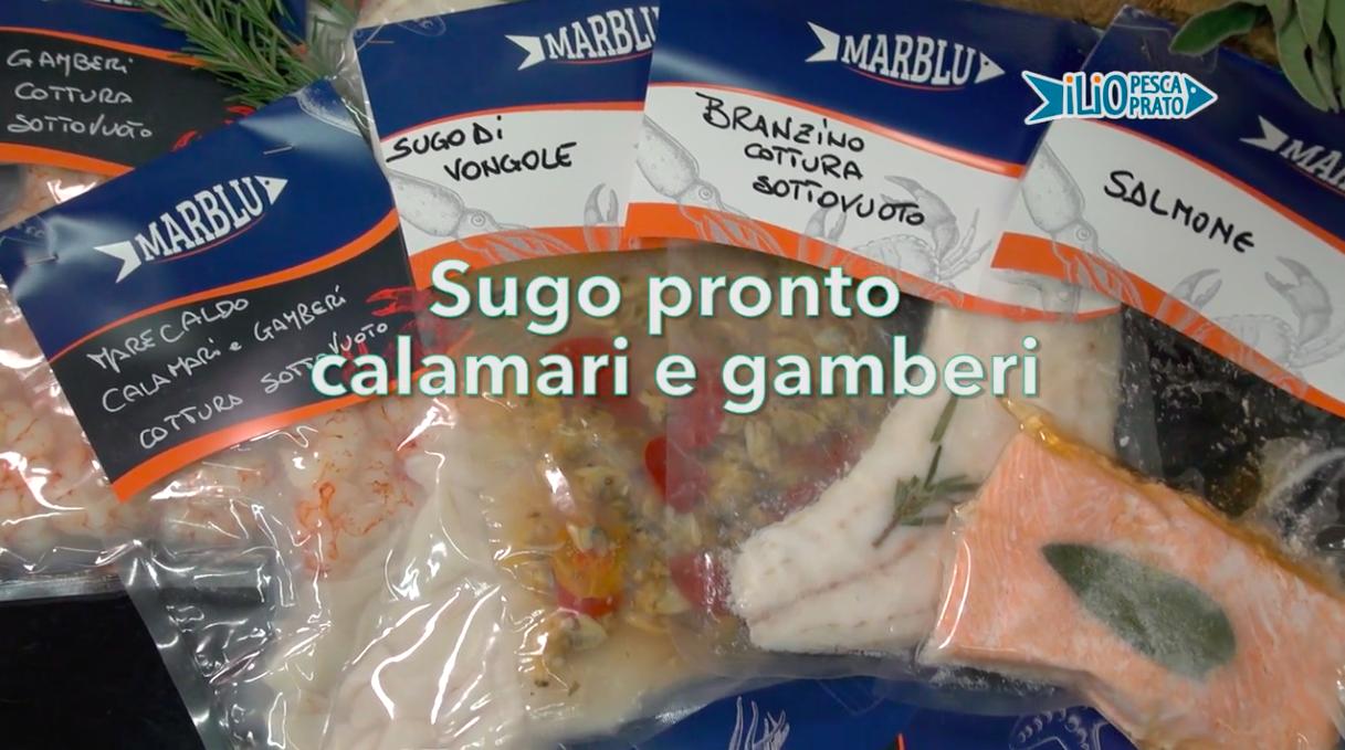 Sugo pronto di calamari e di gamberi – Le Video Ricette di Marblu