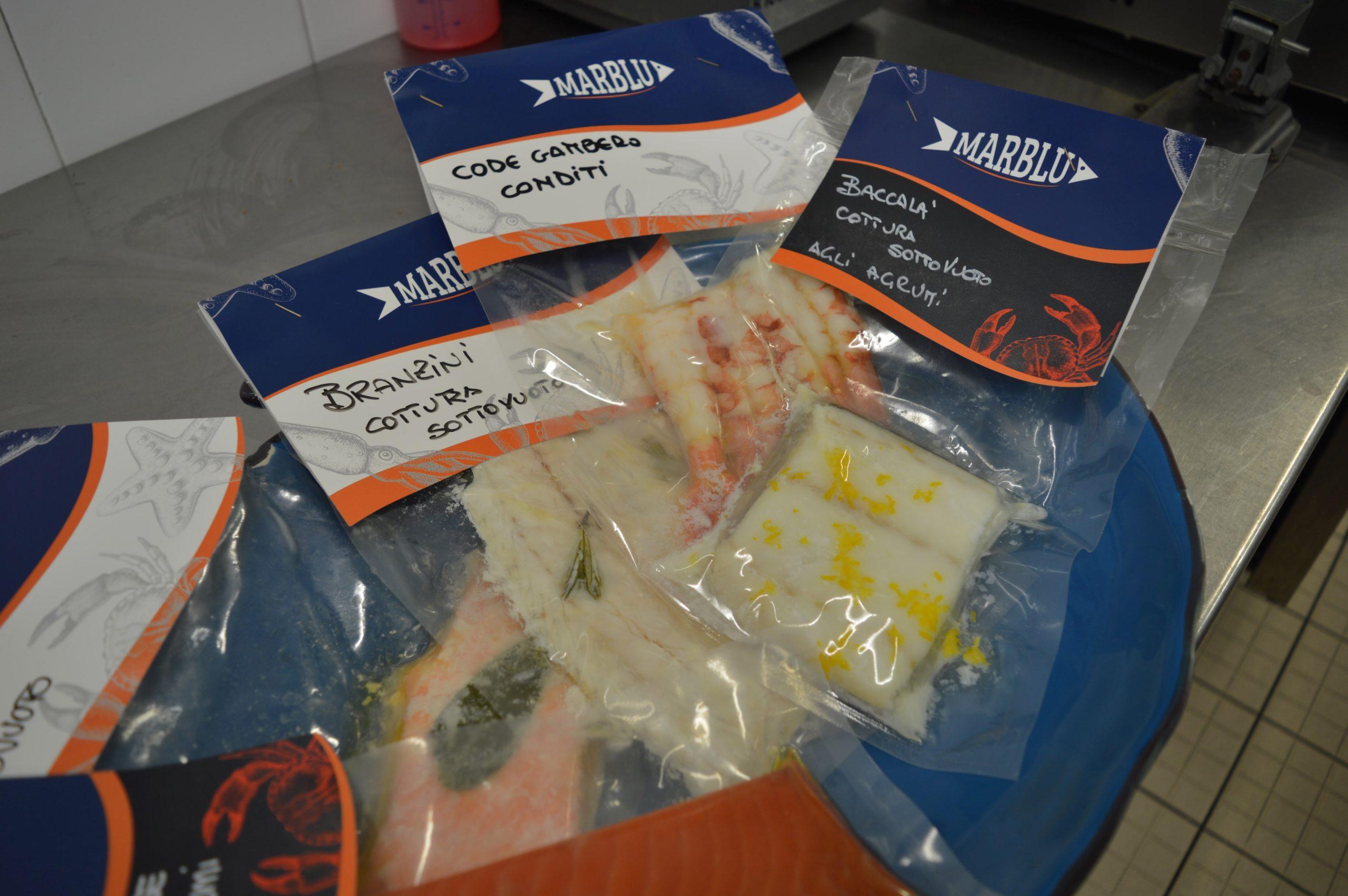La cottura sottovuoto del pesce Marblu