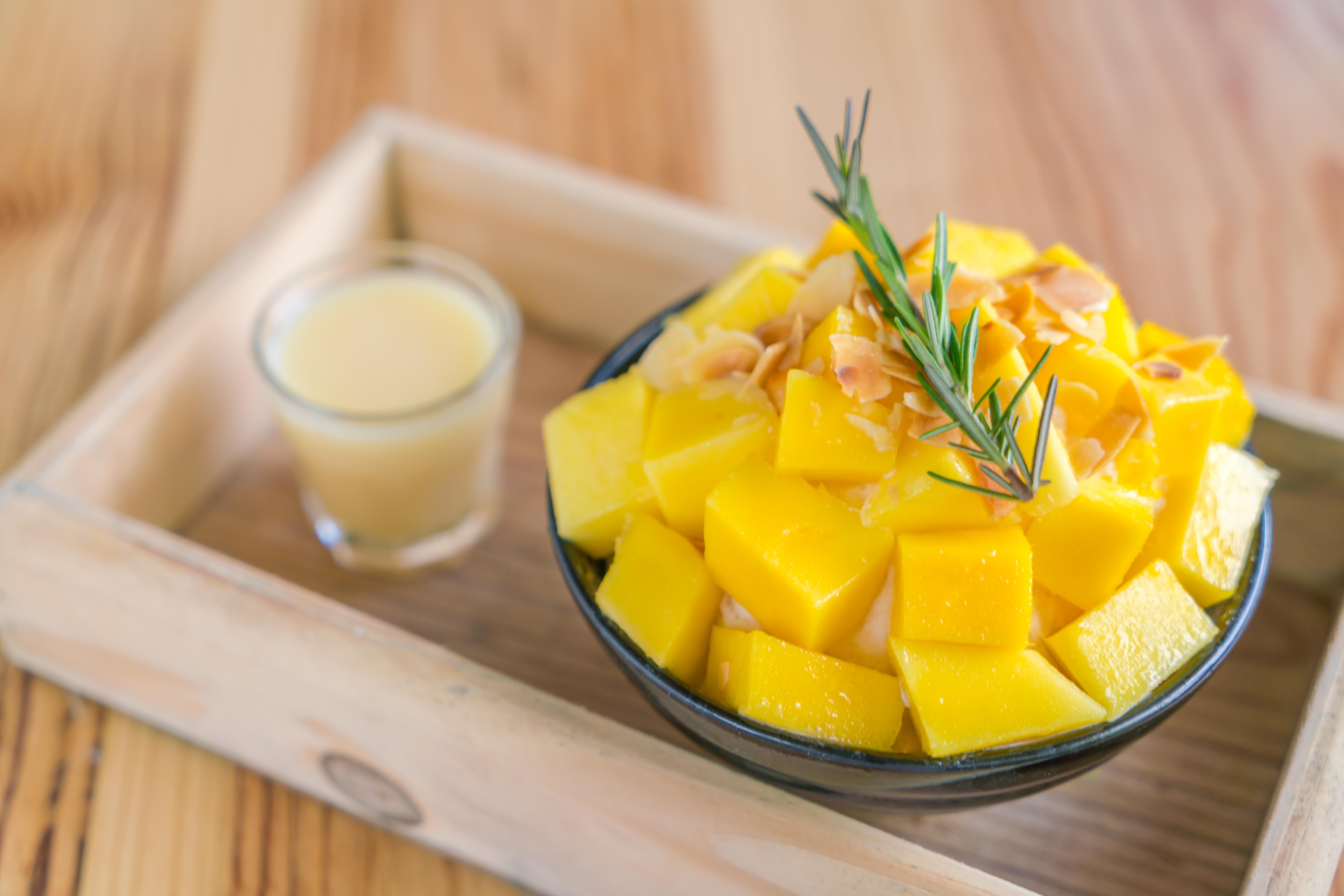 Tartare di ricciola con salsa al mango