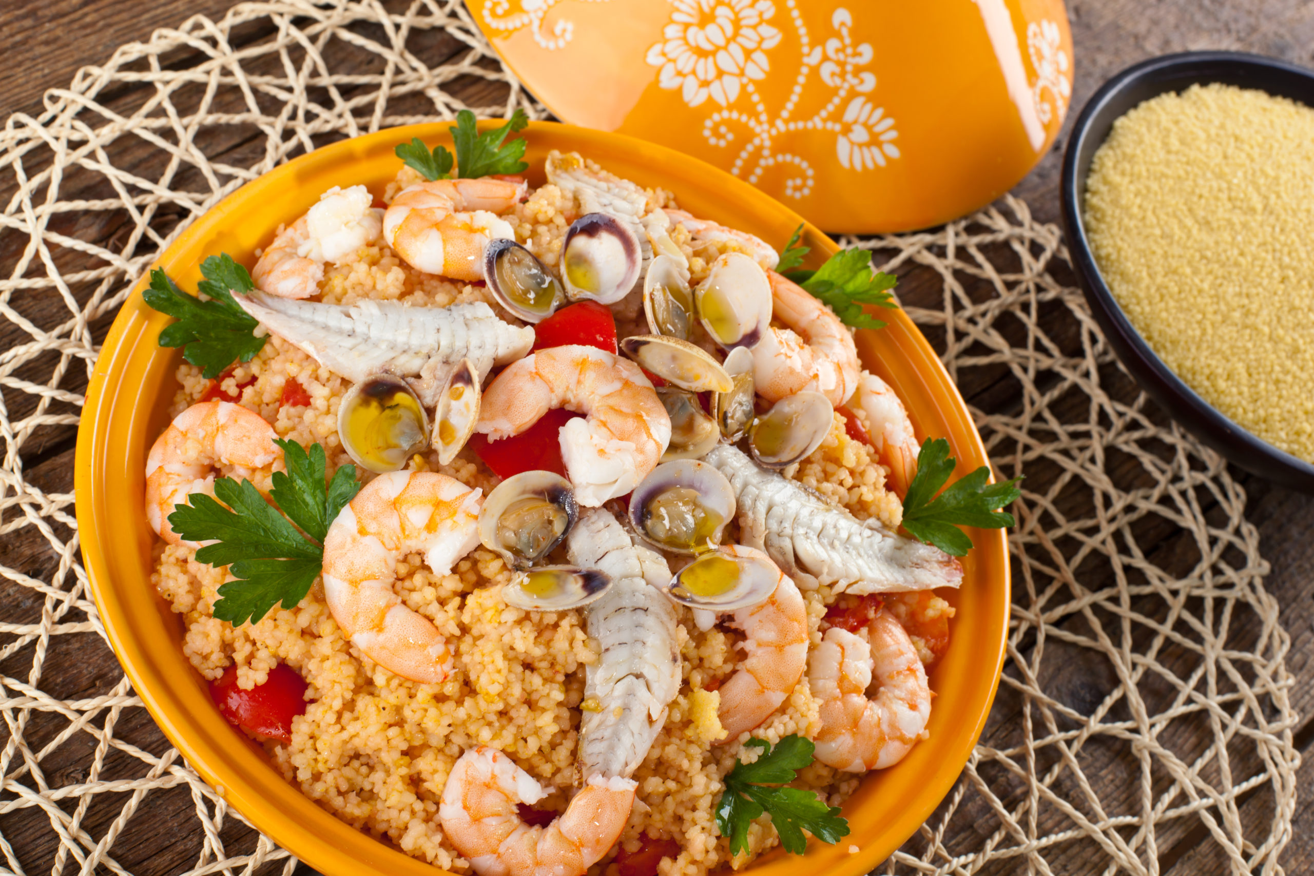 Couscous con i frutti di mare