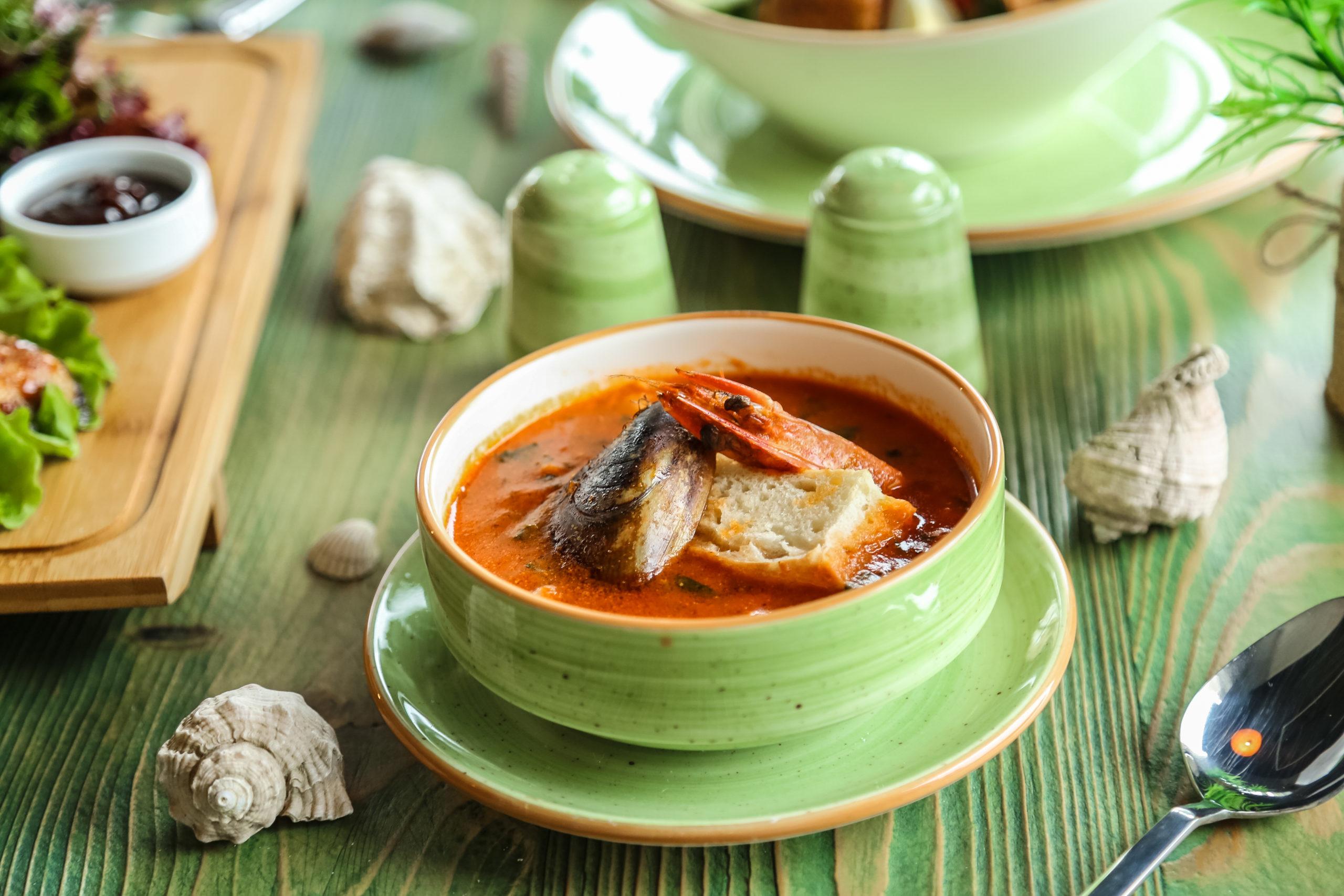 Zuppa di gamberi con verdure